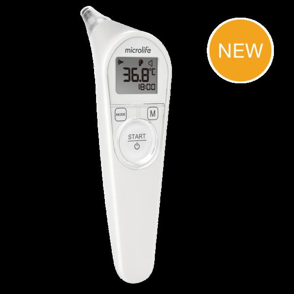 Ушной термометр с гигиеническими колпачками